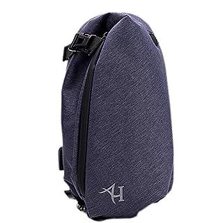 Sling Bag Rucksack Wasserdicht Brust Tasche für Herren Umhängetasche Schulter Fashion mit USB-Ladeanschluss