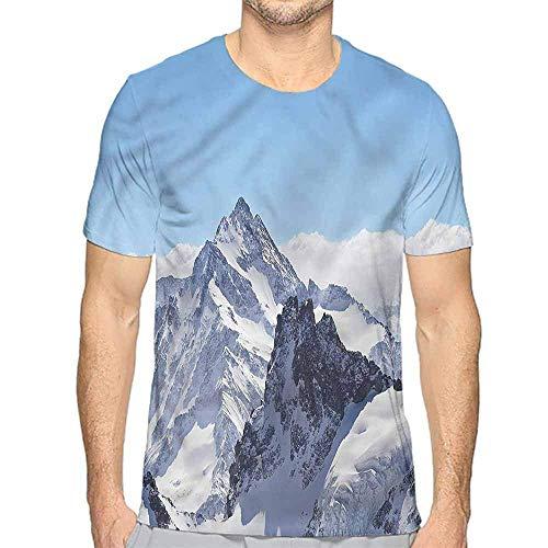 T-Shirt für Männer Winter, Schneeflocke Sonnenbrille Handschuhe Custom T-Shirt, L