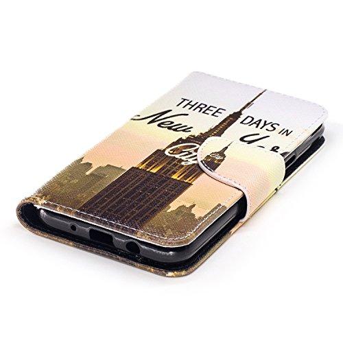 Samsung Galaxy J3 (2017) Cover Case Custodia,Samsung Galaxy J3 (2017) Cover Flip,Samsung Galaxy J3 (2017) Custodia Pelle,Cozy Hut ® Elegante Morbido Soft PU Leather Pelle Slim Flip Stand Stare in Pied torretta della trasmissione