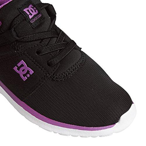 DC Shoes Heathrow G, Baskets Basses Fille Noir
