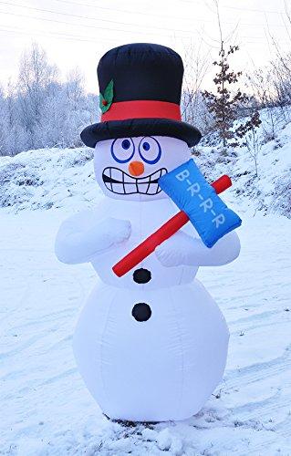 Benelando Selbstaufblasender Schneemann mit Gebläse und Befestigungsmaterial