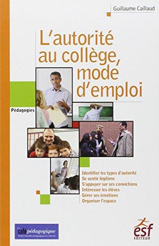 Autorité, mode d'emploi au collège