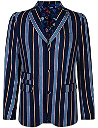 GABICCI VINTAGE THAMES MENS NAVY STRIPED BOATING BLAZER 40
