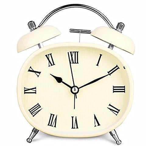 Mlxxlmm Creative mignon Mute étudiant Alarme de lit en métal 15* 12cm