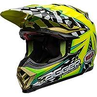 BELL Casco de Motocross Moto-9 Flex Tagger Mayhem, Green Black White, Large
