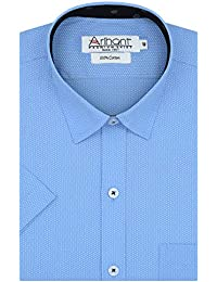 Arihant Printed Self Design 100% Cotton Half Sleeves Regular Fit Formal Shirt for Men