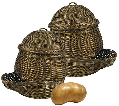 Patatières en osier (Lot de 2)