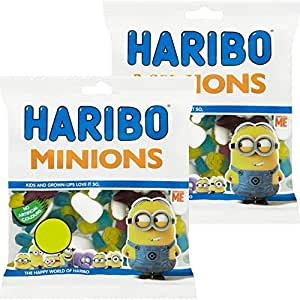 Harribo Minions.2 x large 180grm bags of sweets,candy.Despicable me