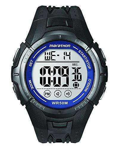 Timex - Homme - T5K359 - Marathon- Quartz Digitale - Argent - Noir - Résine
