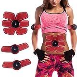 Silaitehealth Entrenador y estimulador del músculo abdominal, cinturón de tonificación muscular, entrenador de la cintura y el abdomen, EMS equipo de entrenamiento, aparato de fitness para el hogar, unisex apoyo para hombres y mujeres