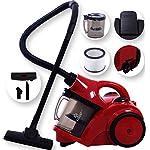 Kesser® Zyklonstaubsauger Staubsauger Bodenstaubsauger Beutellos mit Hepa Filter Zyklon, Farbe:Rot / Schwarz
