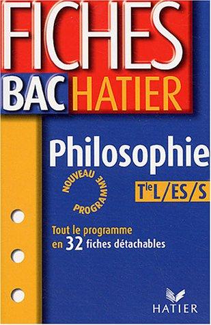 Philosophie Terminales L, ES, S