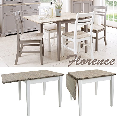 Florence square extended table 75 110cm white extending kitchen florence square extended table watchthetrailerfo