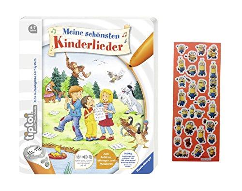 Ravensburger tiptoi ® Buch - Meine schönsten Kinderlieder + Gratis Minions Sticker