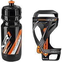 Raceone.it - Kit Race Duo KELA (2 PCS): Bottle Cage KELA + Bike Water Bottle XR1 - Wasserflaschenhalter Fahrrad Cycling/MTB / Gravel. 100% Made in Italy