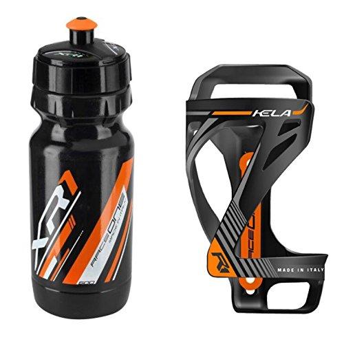 Preisvergleich Produktbild Raceone.it - Kit Race Duo KELA (2 PCS): Bottle Cage KELA + Bike Water Bottle XR1 - Wasserflaschenhalter Fahrrad Cycling / MTB / Gravel. 100% Made in Italy