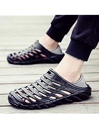 OME&QIUMEI Hommes Sandales Sandales Toutes-Match Loisirs Étudiants Plage Été Sport Chaussures Noir 42