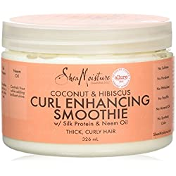 Crema hidratante para rizos con coco e hibiscus de Shea Moisture, 326ml