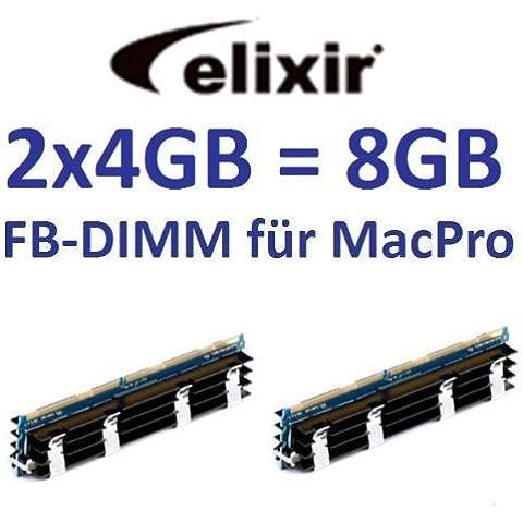 Elixir originale 2x 4GB = 8GB Kit 240pin FB-DIMM DDR2–800PC2–6400128Mx4X
