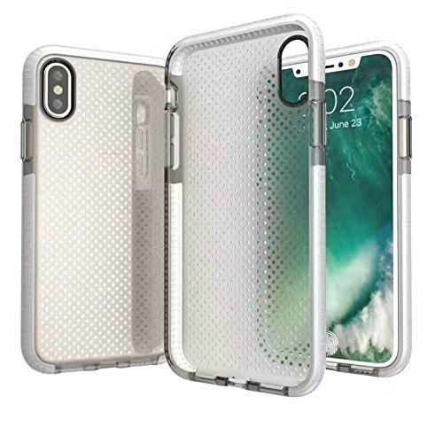 Hosaire 1x Handyhülle Schalen für Apple iphone X Phone Case Neue Apple Telefon Fall Schutzhülle Phone Back Cover Shell Weiss