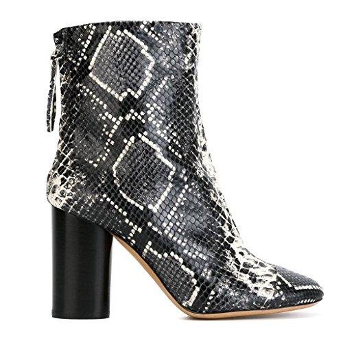SONGYUNYAN Europa und Schlange Leder Streifen wies Hand-Office Mode Damen Stiefel 2