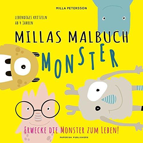 MILLAS MONSTER MALBUCH - Erwecke die Monster zum Leben!: Lebendiges kritzeln ab 4 Jahren (PAPERISH® Kinderbücher) (Malbuch Kinder)