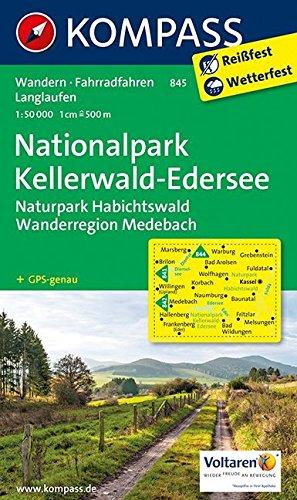 Nationalpark Kellerwald - Edersee - Naturpark Habichtswald - Wanderregion Medebach: Wanderkarte mit Radtouren. GPS-genau. 1:50000: Wandelkaart 1:50 000 (KOMPASS-Wanderkarten, Band 845)
