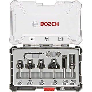 Bosch Professional 6tlg. Rand- und Kantenfräser Set (für Holz, für Oberfräsen mit 8 mm Schaft)