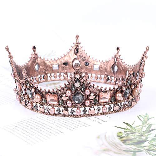 FXCO Heißer Verkauf Hochzeit Krone Kristall Strass Prinzessin Krone Mit Kamm Exquisite Stirnband Prinzessin Krone Für Frauen (Verkauf Krone Für Prinzessin)
