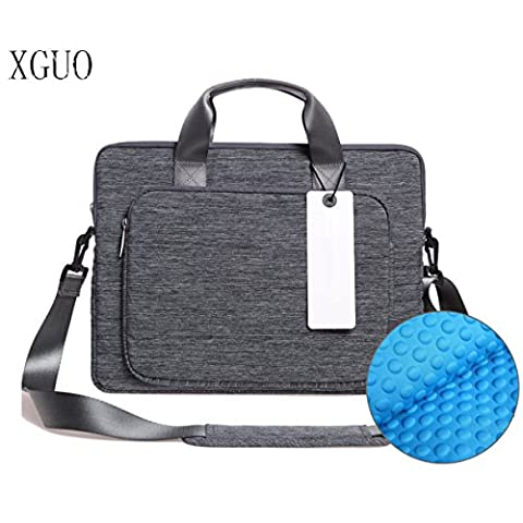 Laptop Shoulder Bag With Shockproof Pad, XGUO Laptop Sleeve Case for Surface Pro Macbook Air 13 HP Spectre X360 Dell XPS 13 iPad Pro 12.9 Messenger Bag(13.3