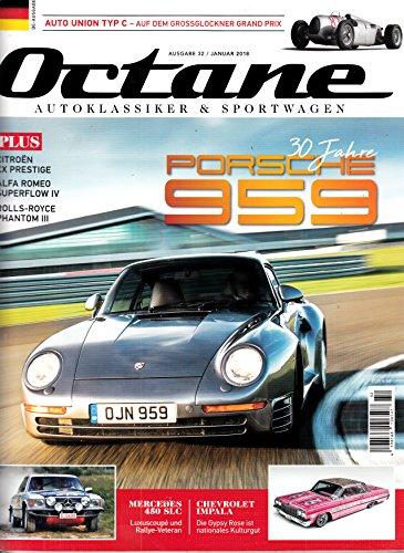 Octane #32 2018 Porsche 959 Zeitschrift Magazin Einzelheft Heft Autoklassiker Sportwagen