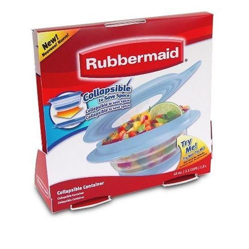 Rubbermaid Collapsibles Food Storage Container, 2 1/2-cup (NIS0007169123913) by Rubbermaid (Food Container Rubbermaid)