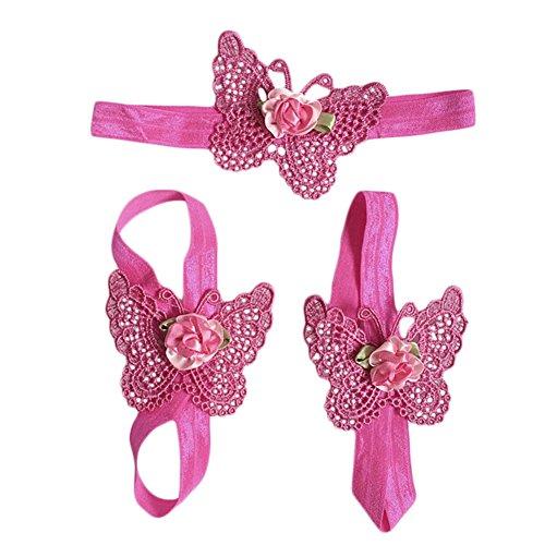 ZN , Baby Mädchen Krabbelschuhe & Puschen hot pink einheitsgröße (Pink Flower Sandal)