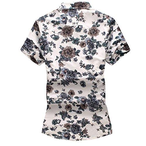 44afed32ffc4 YOUTHUP Herren Sommerhemd Hawaiihemd Kurzarm Hemd Blatthemd Freizeit Hemd  Besonders für Reise Urlaub Design 3