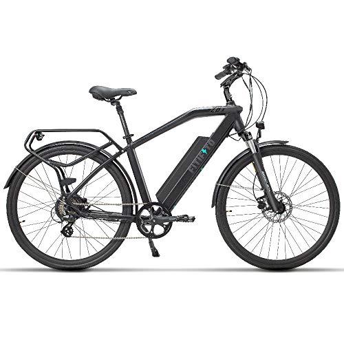Fitifito CT28M, 28 Zoll Elektrofahrrad Citybike E-Bike Pedelec, 48V 250W SY Heckmotor, 7 Gang Shimano Schaltung, Weiß - Grau