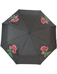 Blooming Brollies - Plegable  negro