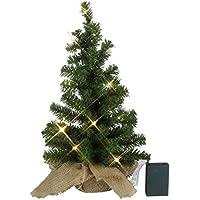 Kamaca LED Weihnachtsbaum Tannenbaum im Beutel mit Timer mit 10 warm weissen LED Höhe 45 cm zum individuellen Dekorieren (Grün, 30 x 45)