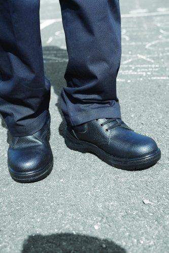 Scan Schuh, schwarzem Leder, schwarz, SCAFWSHOE8 Schwarz