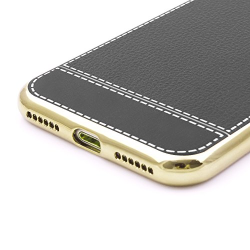 iProtect Schutzhülle aus TPU für Apple iPhone 7, iPhone 8 im Business Design in Hellbraun Schwarz