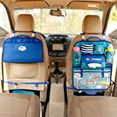 Magnusdeal Universal Use Car Backseat Organizer Pouch with Bottle Holder