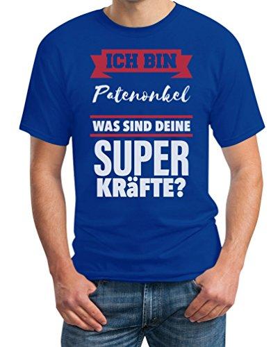 Geschenke für Patenonkel-Ich bin Patenonkel was sind deine Superkräfte ? T-Shirt Blau