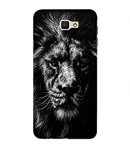 PrintVisa Designer Back Case Cover for Samsung Galaxy J7 Prime (2016)::Samsung Galaxy On Nxt (Animated Scary Face of A Lion)