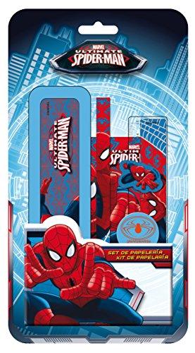 Spiderman – Plumier de plástico con Accesorios, 14 x 26 cm (Arditex SM8953)