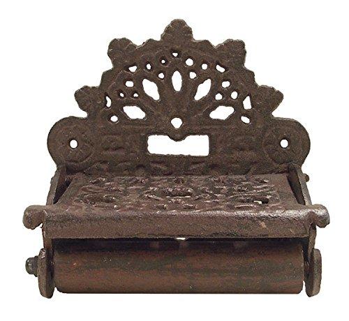 Braun Kolonialstil (zeitzone Toilettenpapierhalter Nostalgie Gusseisen Rustikal Antik-Stil Braun)