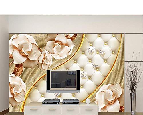 Xinghe wave Wandmalerei Benutzerdefinierte Tapete 3d Luxus Goldschmuck Blume Softbag Schmuck Wandbilder 3D Wohnzimmer Hintergrundwände 3d TapeteHalloween - 1㎡(1 Quadratmeter)