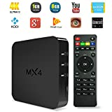 YUNTAB MX4 TV Box 4K TV Box Android 4.4 Quad Core 1.5GHZ Rockchip 3229 Multimedia Streaming Player H.265 8GB FLASH 1GB...