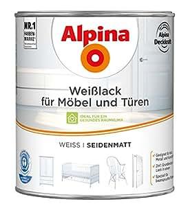 alpina wei lack f r m bel und t ren 2 liter farbe weiss seidenmatt baumarkt. Black Bedroom Furniture Sets. Home Design Ideas