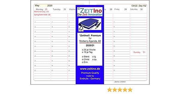 2 Seiten je Woche f/ür Masterplaner 4 Loch A5 ZeitIno Premium Kalender 2020 Duo