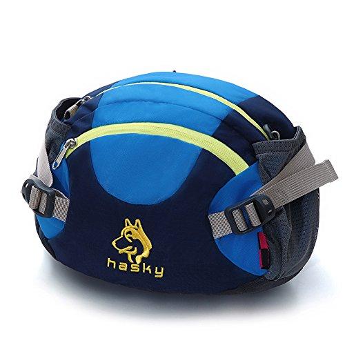 Outdoor peak Unisex Nylon wasserdicht Gürteltasche Ultrasport Multifunktions-Tasche Tagetasche Regenhuelle Messenger Bag Reisetasche Camping Ragetasche Bergsteigen . Blau