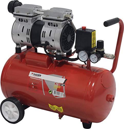 MADER POWER TOOLS - Compresor de Aire  sin aceite 24L 0.75HP - silencioso - ecologico - economico